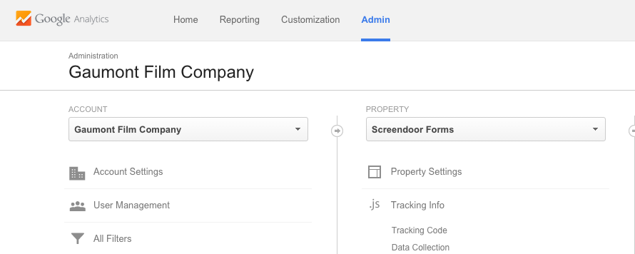 Finding the tracking code in Google Analytics.