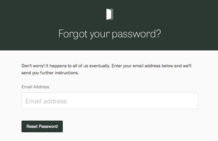 Resetting your password.
