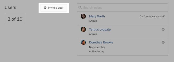 Adding a user.