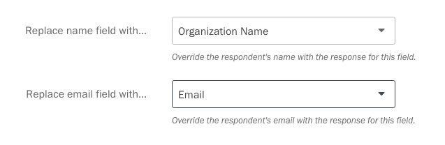 Replacing the default name and email fields.