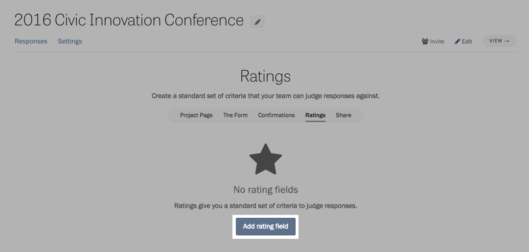 Adding your first rating field.