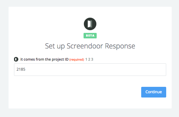 Screendoor on Zapier's Connected Accounts page.