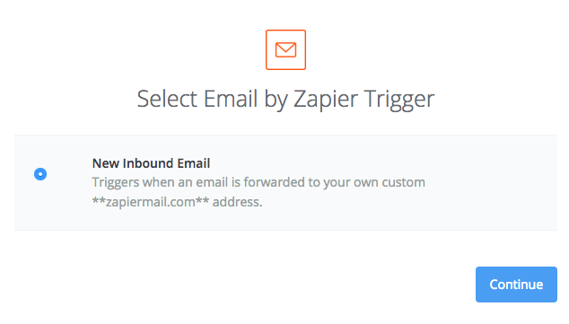 Setting up Email by Zapier as the Zap trigger